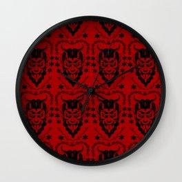 Krampus black on red Wall Clock