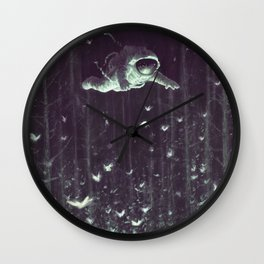 Off the cliff (Large) Wall Clock