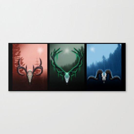 W Horns Canvas Print