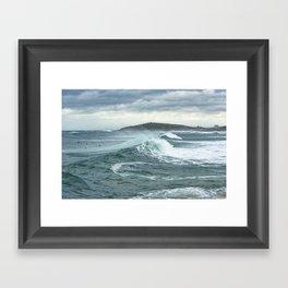Storm Surfers, Fidstral Framed Art Print