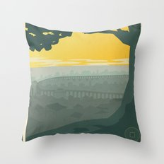 Ba Sing Se Travel Poster Throw Pillow