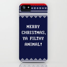 Home Alone – Merry Christmas, Ya Filthy Animal! iPhone Case