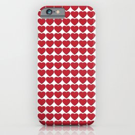 Red heart patterns. Hearty hearts iPhone Case
