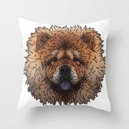 Chow Throw Pillow