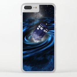 TARDIS BLUE HOLE Clear iPhone Case