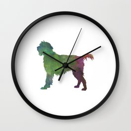 Wirehaired Pointing Griffon Korthals in watercolor Wall Clock