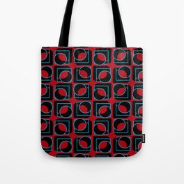 Tubes in Cubes on Red Tote Bag