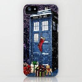 Tardis Christmas iPhone Case