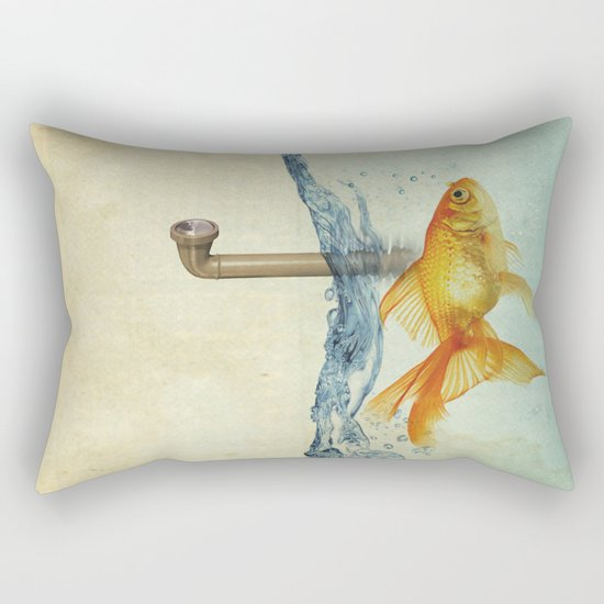periscope goldfish Rectangular Pillow
