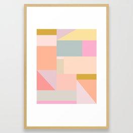 Pastel Geometric Graphic Design Framed Art Print