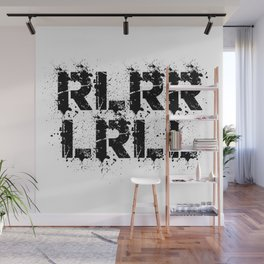 RLRRLRLL Drummer Paradiddle Drums Drumsticks Gift Wall Mural