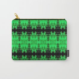 Green Black Diamond Gothic Pattern Carry-All Pouch