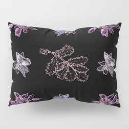 Quercus (black, purple) Pillow Sham