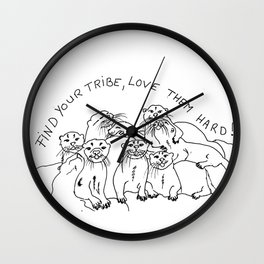 Otters tribe Wall Clock