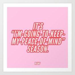 Season of Peace (Pink) Art Print
