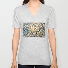 Starry Wishes and Bokeh Dreams... Unisex V-Neck
