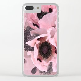 Poppies in the pink Clear iPhone Case