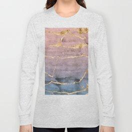 Watercolor Gradient Gold Foil Long Sleeve T-shirt