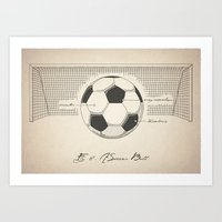 soccer Art Prints featuring Soccer by Tomi Lilja