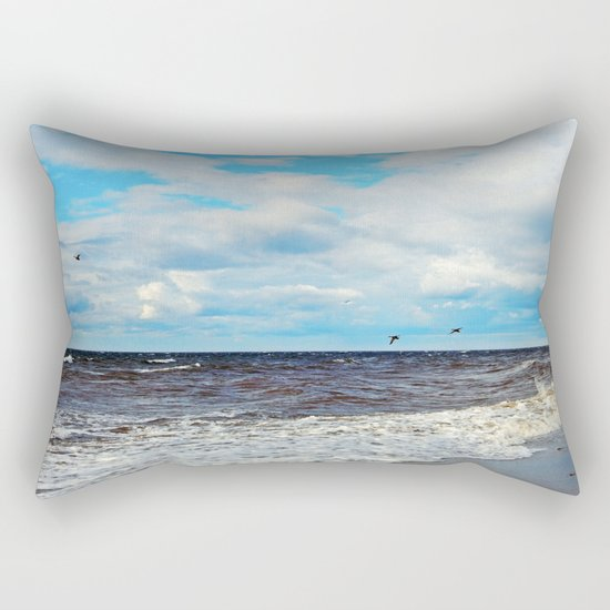 Flying Cormorants Rectangular Pillow