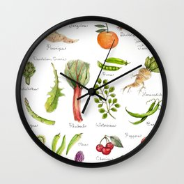 Calendar-January thru June Wall Clock