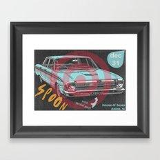 Rainy Day Taxi Framed Art Print