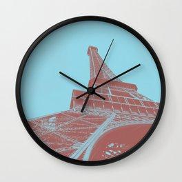 Eiffel Tower Color Pop Wall Clock