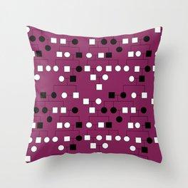 Pedigree Analysis - X-linked Dominant Throw Pillow