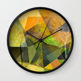 P24 Trees and Triangles Wall Clock