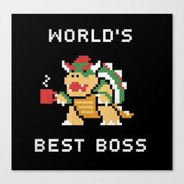 World's Best Boss Canvas Print