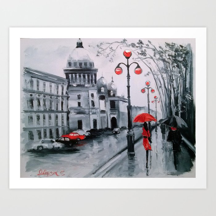 St. Petersburg Admiralty Avenue Art Print