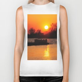 Silhouettes and Fire Biker Tank