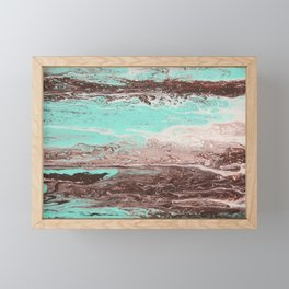 Tidal Shifts of Dawn and Dusk Framed Mini Art Print