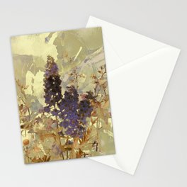 floral on beige Stationery Cards