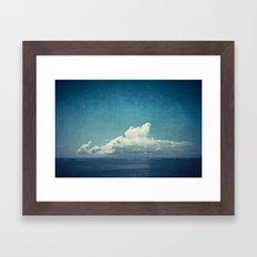 cloud over island Framed Art Print