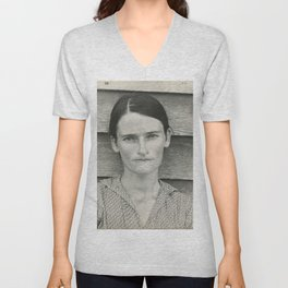 Allie Mae Burroughs by Walker Evans Unisex V-Neck