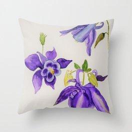 Aquilegia Flower Throw Pillow