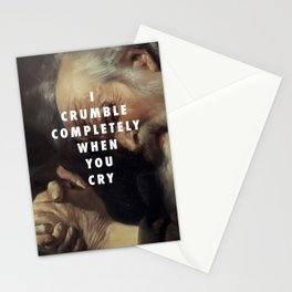 Crying Heraclitus Stationery Cards