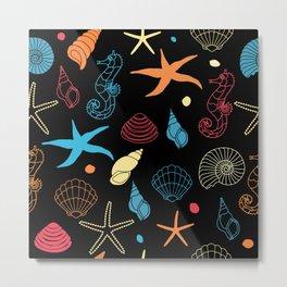 Sea Pattern Metal Print