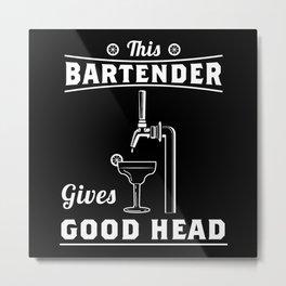 Bartender Metal Print