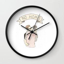 NO HOMO Wall Clock