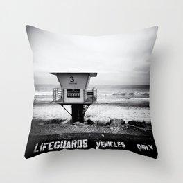 Lifeguard Vehicles Only Throw Pillow