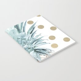 Pineapple crown - gold confetti Notebook