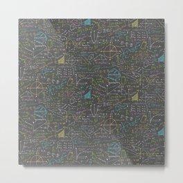 Math Lesson Metal Print