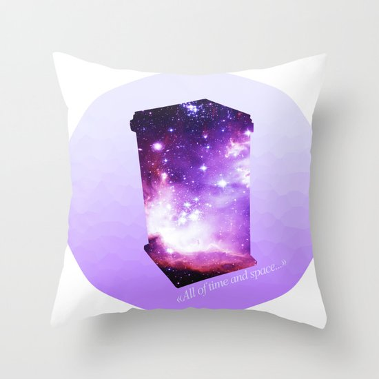 All of time and space - The Tardis Throw Pillow