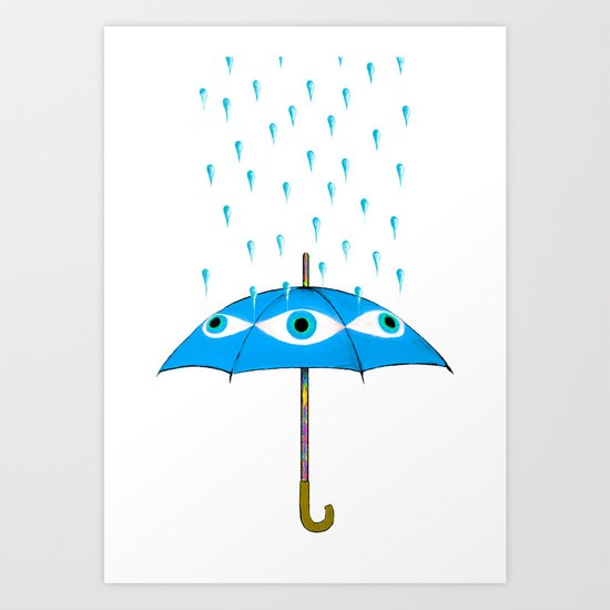 Storms Are Brewing In Your Eyes Art Print