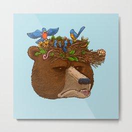 Mr Bear's Nature Hat 2017 Metal Print