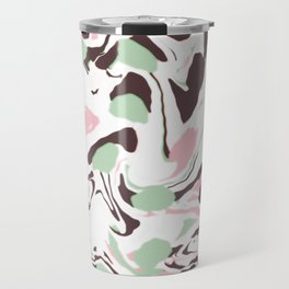 Stirred colors on white Travel Mug