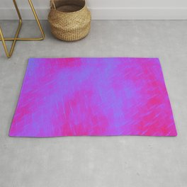 Line texture of violet oblique dashes with a luminous intersection on a luminous charcoal. Rug