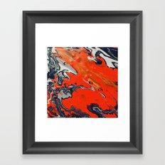 Swirled Orange Framed Art Print